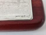 Деревяная шариковая и перьевая ручки в коробке с серебряной накладкой ( Италия ), фото №7