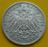 3 марки, Бавария, 1908г, фото №7