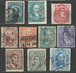 И07 Аргентина 1888 №№ 51, 53-54 и 56-62 (серия без 2 марок, с концовкой), фото №2