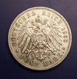 5 марок 1908 р. Саксонія. Фрідріх Август, фото №4
