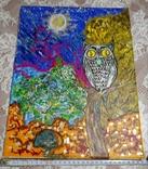 Картина сова и кот., фото №3