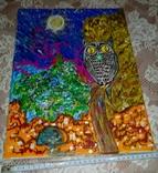 Картина сова и кот., фото №6