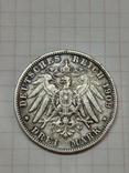 Германская империя, королевство Вюртемберг, 3 марки, 1909 год., фото №5