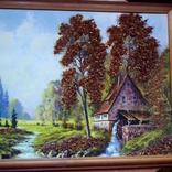 Картина с использованием натурального янтаря, фото №3