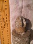 Металлический буйок из советского унитаза переделаный под строительный отвес, фото №5