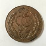 Памятная настольная медаль со свадьбы, фото №2
