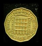 Великобритания 3 пенса 1955, фото №2