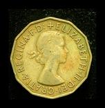 Великобритания 3 пенса 1955, фото №3