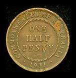 Австралия 1/2 пенни 1911, фото №2