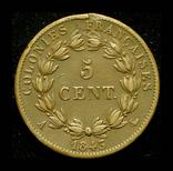 Французкая Мартиника 5 сентим 1843, фото №3
