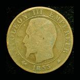 Франция 5 сентим 1853 ВВ, фото №3