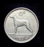Ирландия 6 пенсов 1928, фото №3