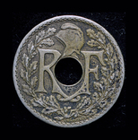 Франция 10 сантим 1925, фото №3
