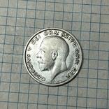 Пол кроны 1928 года Великобритания серебро, фото №2
