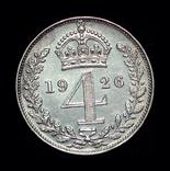 Великобритания 4 пенса 1926 аUnc маунди серебро, фото №2