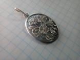 Підвіс квіти срібний СССР 875 овальний, фото №3