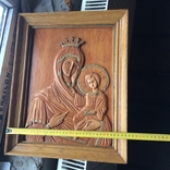 Деревяна ікона св Богородиці, фото №5