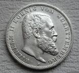 3 марки 1912 г., Вюртемберг, серебро, фото №4