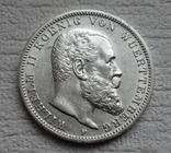 3 марки 1912 г., Вюртемберг, серебро, фото №7