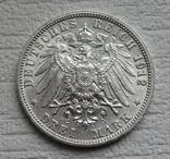 3 марки 1912 г., Вюртемберг, серебро, фото №8
