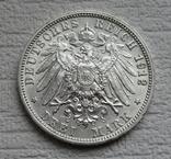 3 марки 1912 г., Вюртемберг, серебро, фото №9