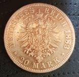 20 марок 1883, Прусія, фото №2