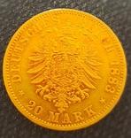 20 марок 1883, Прусія, фото №4