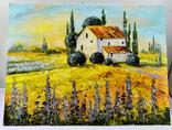 """Картина холст масло """"Тоскана"""" пейзаж в Италии, фото №2"""