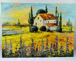 """Картина холст масло """"Тоскана"""" пейзаж в Италии, фото №3"""