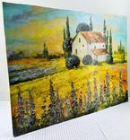 """Картина холст масло """"Тоскана"""" пейзаж в Италии, фото №4"""