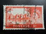 Великобритания. 1955 г. 5 шил. Красная. Каталог- 9,68 дол. США, фото №3