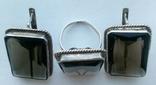 Серьги и кольцо.Серебряный набор., фото №2