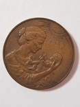 Настольная медаль Родившемуся на земле Ленинградской, фото №3