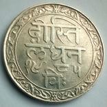 Британская Индия, княжество Мевар 1 рупия 1928 г., фото №7