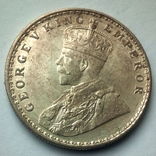 Британская Индия 1 рупия 1919 г., фото №4