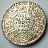 Британская Индия 1 рупия 1919 г., фото №9