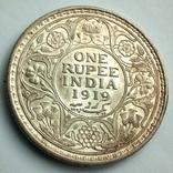 Британская Индия 1 рупия 1919 г., фото №10