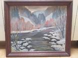 Зимний пейзаж, художник Цибере В., 1998 г. (Закарпатская школа), фото №2