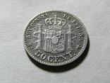 50 сентимов 1880 Испания, серебро, фото №3