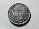 50 сентимов 1880 Испания, серебро, фото №5