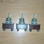 Тумблеры, переключатели Т2 , СССР, 3 штуки, фото №2