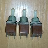 Тумблеры, переключатели Т2 , СССР, 3 штуки, фото №7