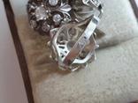 Набор кольцо + серьги. Серебро 925 проба. Размер кольца 16.5, фото №6