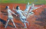 Губский И.И. (род.1954) Парный теннис. 2011., фото №2