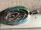 Массивный серебряный кулон с тиле ар нуво с эмалями (серебро 800 пр, вес 11,6 гр), фото №7