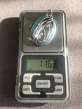 Массивный серебряный кулон с тиле ар нуво с эмалями (серебро 800 пр, вес 11,6 гр), фото №9