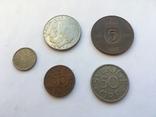5 монет Швеції ХХ століття, фото №2