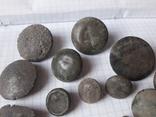 Пустотелые древние пуговицы бронза и не только, 18 шт, фото №3