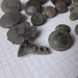 Пустотелые древние пуговицы бронза и не только, 18 шт, фото №5