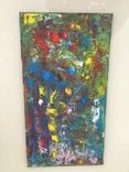 Картина двп., масло 48 х 24,5 см. Абстракция., фото №4